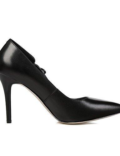 GGX/ Damenschuhe-High Heels-Büro / Lässig-Leder-Stöckelabsatz-Absätze / Spitzschuh-Schwarz / Rot black-us6 / eu36 / uk4 / cn36