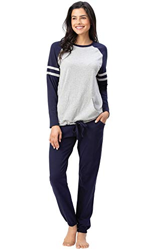 Addison Meadow PJ Sets Women - Women Pajamas, Sunday Funday, Navy, L, 12-14