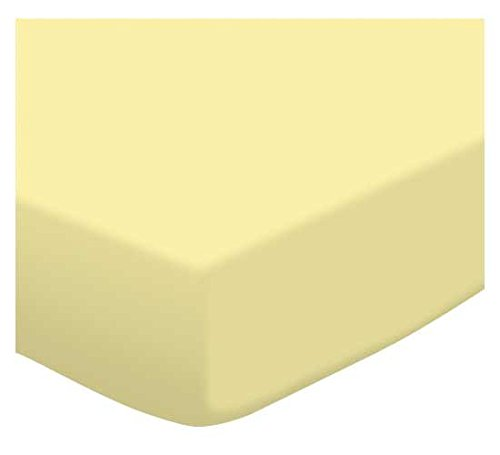SheetWorld Fitted Pack N Play (Graco Square Playard) Sheet – Soft Yellow Jersey Knit – Made In USA