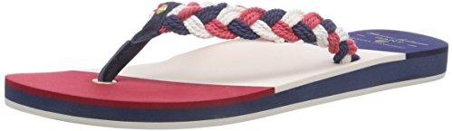 GANT FOOTWEAR St Bart - zuecos de lona mujer multicolor - Mehrfarbig (navy/red/white G55)