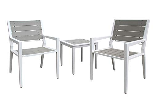 Liberty Garden Patio SR-K-137E-3 Everwood Cordoba 3pc Seating, Gray