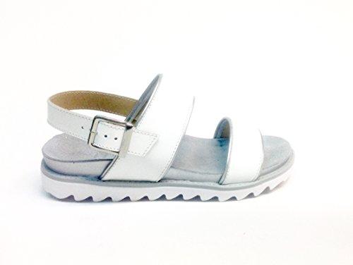 Agora - Sandalias de vestir de Piel para mujer Varios Colores multicolor 35 blanco
