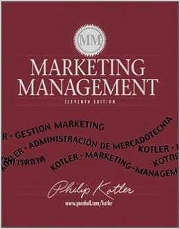9780130336293: marketing management: united states edition.