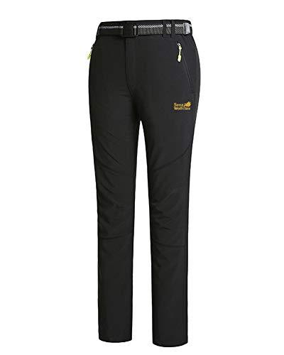 Trekking Fit Softshell Pantaloni Impermeabili Outdoor Donna Slim Uomo Nero Laozana Hw4q0axUH