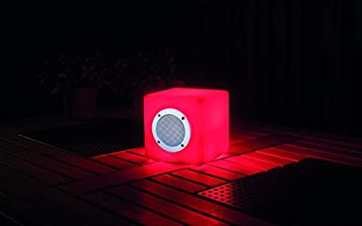 LED Multicolor Bluetooth Speaker and Mood Light - Decorative Home Decor Indoor Outdoor with Bluetooth Enabled Speaker Rechargeable Battery Dimmable Remote Controlled Mood Lighting LED Cube 15