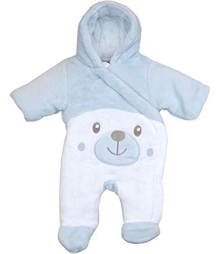 BabyPrem Preemie Baby Boy's Snowsuit Teddy Blue Prem 3