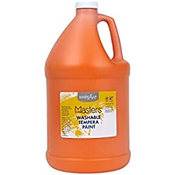 Handy Art® Little Masters Washable Tempera Paint Gallon, Orange