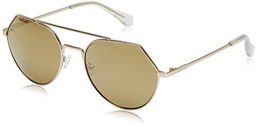 Fastrack Women Pilot Sunglasses Yellow Frame Brown Lens