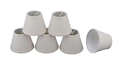 Aspen Creative 32060-5 Small Hardback Empire Shape Chandelier Clip-On Lamp Shade Set