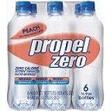 Propel Zero Peach Enhanced Water, 16.9 oz (pack of 24)