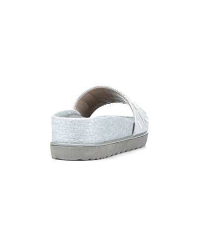 Donald J Pliner Womens Cava Slide Sandal Pumice