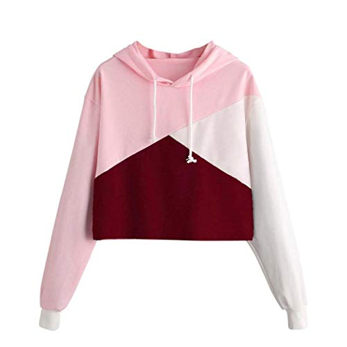 Girls' Hoodie, Misaky 2018 Fashion Parttern Long Sleeve Sweatshirt Pullover Blouse Jumper (Red, 2XL)