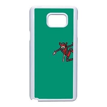Samsung Galaxy Note 5 Case,Dark Green Background,Pixel Ninja ...