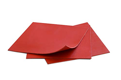 (Rubber Sheets Red, 6x6-Inch by 1/16, (3 Sheet Pack),Plumbing, Gaskets DIY Material, Supports, Leveling, Sealing, Bumpers, Protection, Abrasion, Flooring)