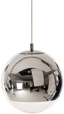Extra Large Mirror Ball Pendant Lamp Silver