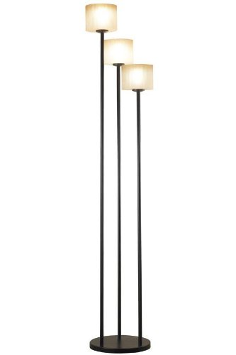 Kenroy Home Matrielle 72 Inch 3 Light Torchiere In Oil Rubbed Bronze Finish With Amber Scavo Glass Shades