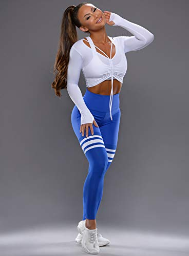 67da2f1321fee Bombshell Sportswear High Waist Thigh-High Leggings - Royal/Royal ...
