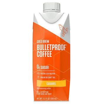 Bulletproof Cold Brew Coffee, Caramel Flavor, Keto Friendly, Sugar Free, with Brain Octane oil and Grass-fed Butter (12 Pack)