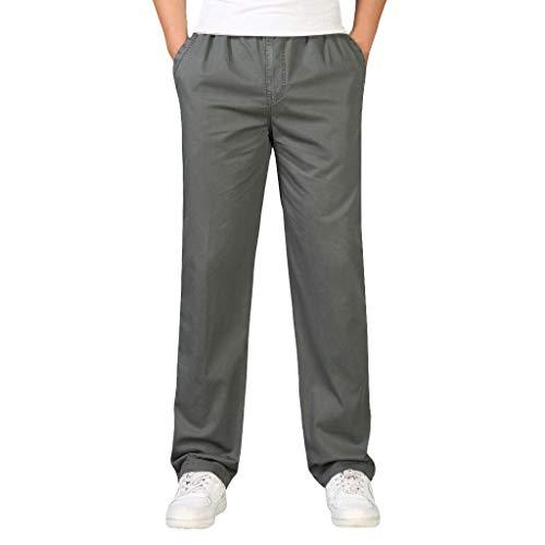 - ZEFOTIM Pants for Men Casual Cotton Loose Pure Color Plus Size Outdoors Sport Overalls Long Pant(ArmyGreen,XX-Large)