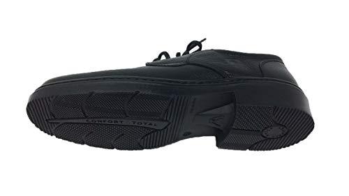 Himalaya Piel Hombre Negro Cordones Goma Zapato Suela qw4Eq5