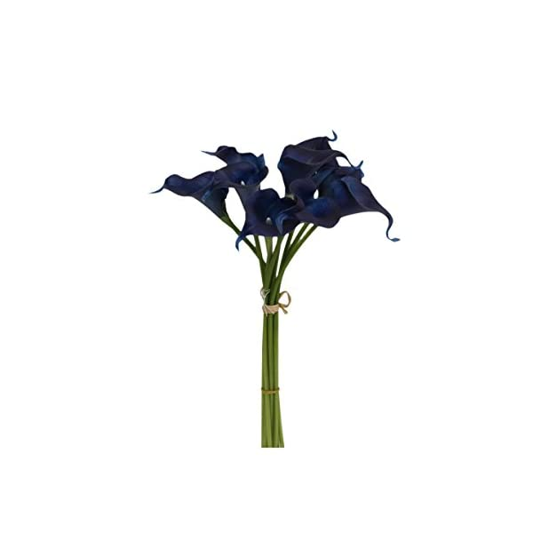 Angel-Isabella-LLC-20pc-Set-of-Keepsake-Artificial-Real-Touch-Calla-Lily-with-Small-Bloom-Perfect-for-Making-Bouquet-BoutonniereCorsage-Navy-Blue