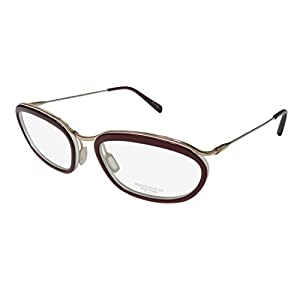Oliver Peoples Massine Womens/Ladies Designer Full-rim Titanium Eyeglasses/Eyeglass Frame (52-18-133, Merlot/Gold)