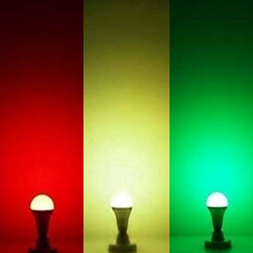 RN_E_C9 Watt 3 in 1 Colour led Lightning Bulb(sea Green,red, Dark Green) Used in Rooms,Bathrooms,Parties,Small Functions…