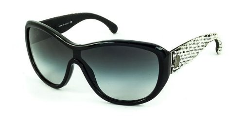 Gafas de Sol Chanel CH5242 BLACK WHITE TWEED: Amazon.es ...