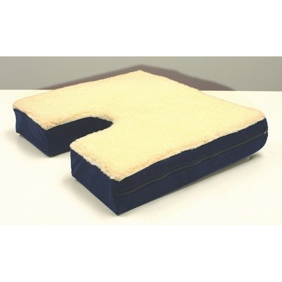 (Coccyx Gel Seat Cushion with Fleece Top by Rose Healthcare)