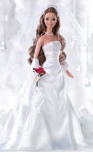 (David's Bridal Eternal Brunette Barbie Collector Silver Label Collectible Doll)