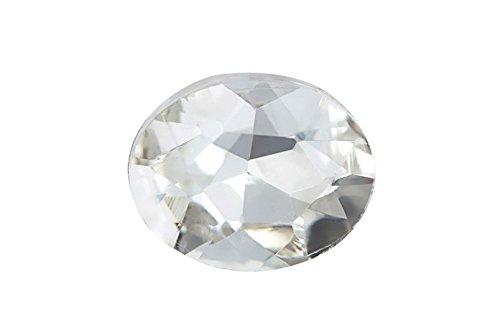 3pcs Embellishment rhinestone, clear Oval foil back crystal 30x20mm