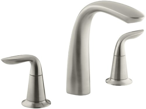 KOHLER K-T5323-4-BN Refinia Bath Faucet Trim, Valve Not Included, Vibrant Brushed Nickel