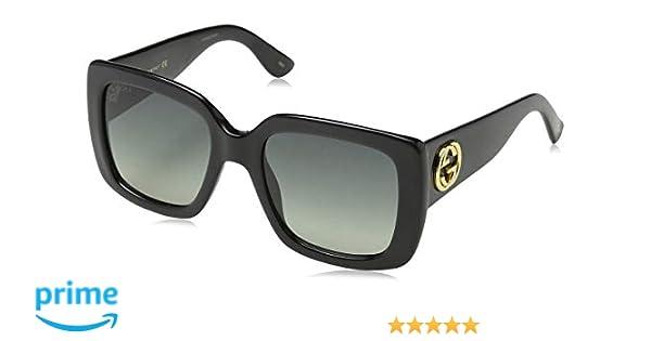 e5d89c9bc2 Gucci GG0141S 001 Gafas de sol, Negro (Black/Grey), 53 para Mujer:  Amazon.es: Ropa y accesorios