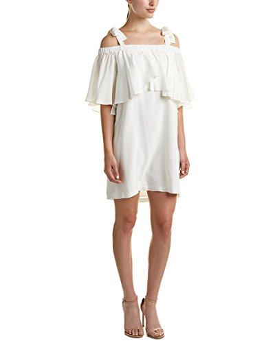 Nicole Miller Women's Silk Bow Tie Dress Ivory (Nicole Silk Skirt)