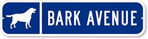 Customize Your Own Blue Street Sign with Dog Symbol by SmartSign - 3M Authorized | 24