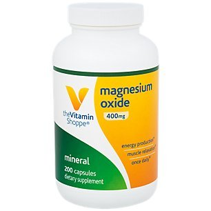 Magnesium Oxide 400mg – Once Daily Mineral Formula That Supports Energy Production Muscle Relaxation, Promotes Regularity (200 Capsules) by The Vitamin Shoppe