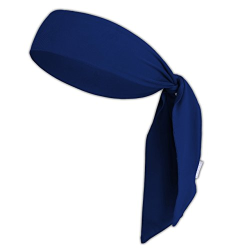 Head Tie/Tie Headband/Sports Headband - Keep Sweat & Hair Out of Your Face - Ideal for Running, Working Out, Tennis, Karate, Athletics & Pirates. Performance Stretch & Moisture Wicking (Azure) -