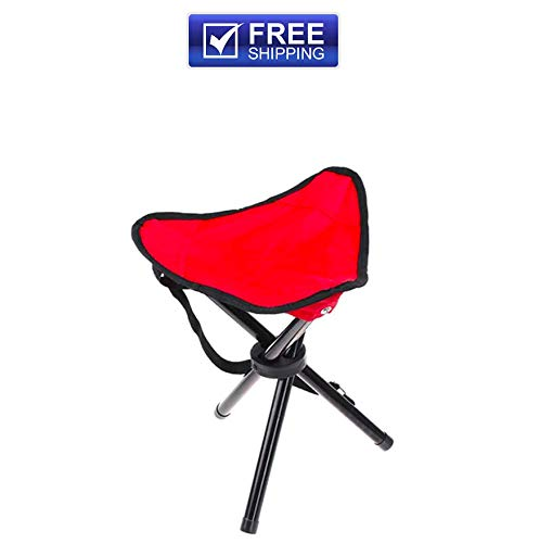 - CollectionofProducts PPPT10082 Large Red Chair Folding Portable for Travel Outdoor Camping Fishing