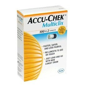 Accu-chek Multiclix Lancets By Roche Diagnostics - 102 Each