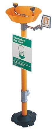 GUARDIAN G1825P Pedestal-Mount Eyewash, Plastic Bowl, -