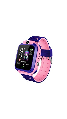 XHCM Touch Screen Children's Smart Watch Students Wear Waterproof Phone Watch Can Locate Micro Chat Photo,Pink