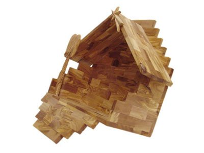 Deluxe Olive Wood Nativity Set- Hand Carved in Bethlehem, the Holy Land.