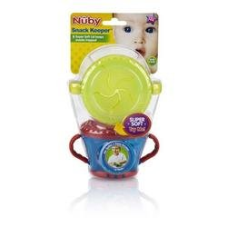 Nuby Snack Keeper 2-Pack - yellow/red, one size