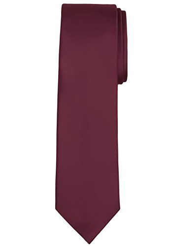 - Jacob Alexander Solid Color Men's Regular Tie - Burgundy Wine