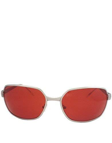 Tyler Estilo gafas de sol, Marco plateado / lente roja: Amazon.es: Ropa y accesorios