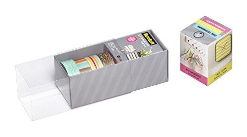 Scotch Expressions Washi Tape, Multi-Pack with Storage Box, Diamonds, Dots, Lines, 4 Rolls (C317-4PK-DIAM) Photo #2