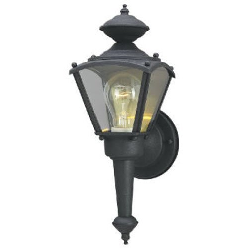 - Westinghouse Lighting 6698300 One-Light Exterior Wall Lantern, Matte Black Finish on Steel with Clear Glass Panels