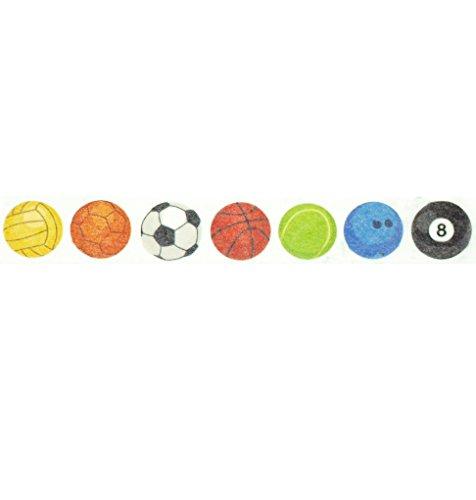 Sports Washi Tape (1 Roll - 9/16