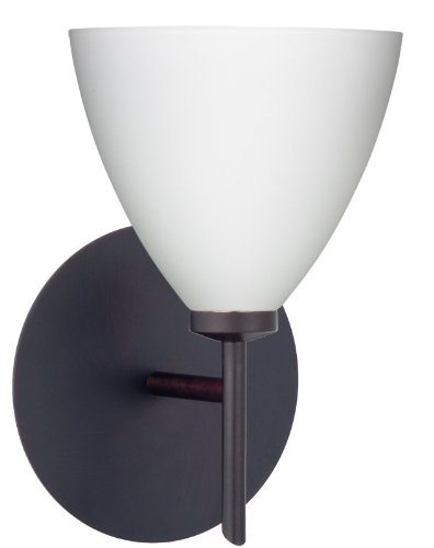 Mia Interior-Only 1 Light Wall Sconce Finish: Bronze, Shade Color: Opal ()