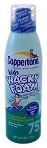 Coppertone SPF#75+ Kids Wacky Foam 6 oz.